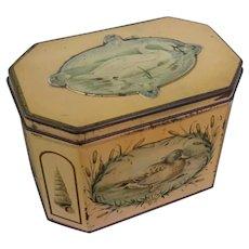 "Huntley & Palmer, ""Swan"", Tea Caddy /  Biscuit Tin, Featuring, Swan, Mallard & Canadian Goose"