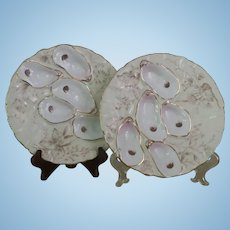 Beautiful Vintage Oyster Plate, Pair, Turkey Design