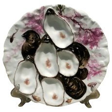 Antique, Turkey Oyster Plate, Haviland, Limoges, France