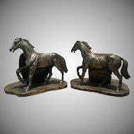 Gorgeous, Figural Horse Napkin Rings, Pair