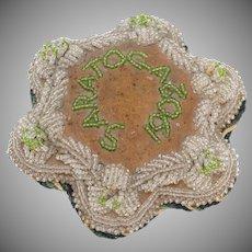 1902,  Mohawk, Indian, Rare,  Beaded Pin Cushion, Saratoga, N Y