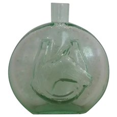 Commemorative Glass Flask with Horse Profile