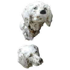 Vintage,  Figural Dog, Curtain Tieback, Pair