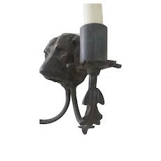 Gorgeous, Dog Sconce Pair, Very Unique