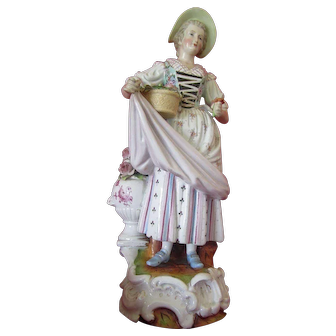 Chelsea Porcelain Figurine with Gold Anchor Circa 1756-1769