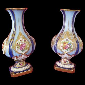 19th Century French Porcelain Vases