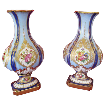 19th Century French Porcelain Vases