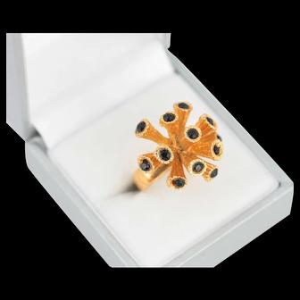 Vintage 60s Sputnik Style Ring