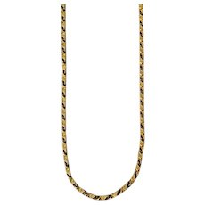 """Solid 22K Yellow Gold Chain Necklace - 24"""" Long"""