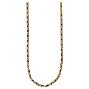 "Solid 22K Yellow Gold Chain Necklace - 24"" Long"