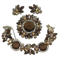 Vintage Juliana Brooch, Earrings, Bracelet