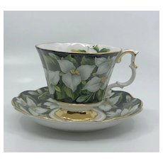 Vintage Royal Albert Trillium Teacup and Saucer