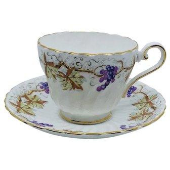 Aynsley Grape Vine Teacup and Saucer