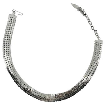 Whiting and Davis Mesh Choker Necklace