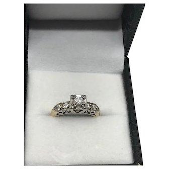 Mid Century Diamond Ring