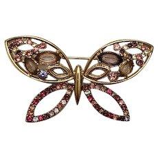 Vintage Signed Liz Claiborne Butterfly Brooch