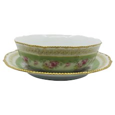 Higgins & Seiter Porcelain Bowl and Charger, Bowa & Dotter