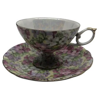 Shafford Japan Hand Decorated Teacup and Saucer