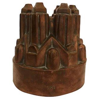 Antique Copper Mold, Castle Design