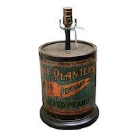 Vintage Planter Peanuts Lamp