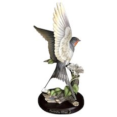 """Beautiful Classic Porcelain by Homco 'Morning Flight"""" 1990"""