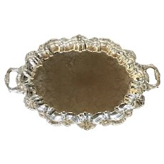 Vintage International Silverplate Butler Waiter 4 footed Tray