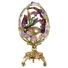 "A Franklin Mint House of Faberge ""Hummingbird Garden Delight"""