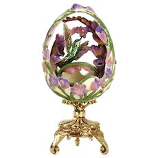 "A Franklin Mint House of Faberge ""Hummingbird Garden Delight"""