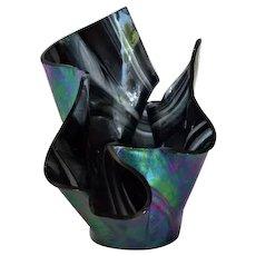 Gorgeous Art Glass Handkerchief Vase