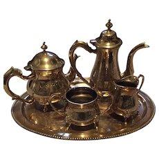 Vintage Brass Tea and Coffee Set