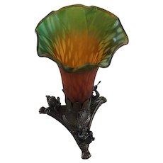 Vintage Tulip Ombré Glass Lamp