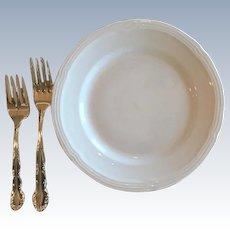 Vintage Oneida Silver Plate Flirtation Pattern Dinner Forks