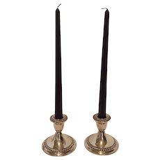 Vintage Gorham Sterling Silver Candlestick Holders