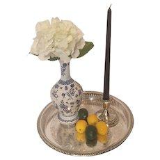 "Coalport England 9 1/2"" Vase Blue Flowers, Birds and Bees"
