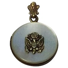 WWII Pearl and Silver Military  Sweetheart Locket