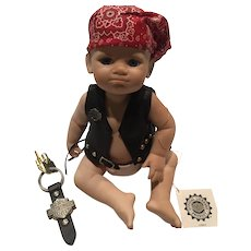 Heirloom Franklin Mint Bobby the Little Biker Doll Complete with all Original Paper Work and Box