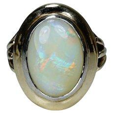 Vintage 9 Carat Gold Solid Opal Ring