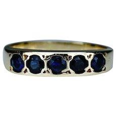 Edwardian Sapphire 18 Carat Gold Ring