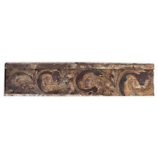 18th Century Antique, Baroque Period, Architectural Large Polychrome Altar Panel