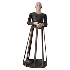 18th Century Life-Size Joan of Arc Santos Cage Doll, Mannequin