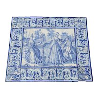 18th Century Antique Portuguese Tile Mural Panel depicting a Musical Scene