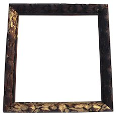 18th Century, Carved and Gold Leaf Portuguese Baroque Frame, Antique