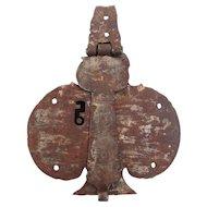 18th Century, Rare Wrought Iron Chest Lock, Baroque, Original Antique