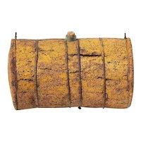 1900s Antique Portuguese Primitive Cork Barrel