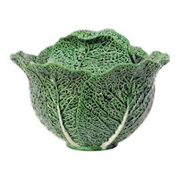 1900s Large Cabbage Tureen, Earthenware, Portuguese