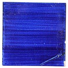 1900s Spanish Cobalt Blue Tile, Earthenware