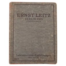 Vintage Medicine / Medical Instruments Catalog / Book (German Version) Ernst Leitz, Berlin, Laboratoriums - Einrichtungen - Apparate und Gerätschaften