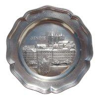 1938 Swiss Grand Prix Motor Race Pewter Plate (Grand Prix de Suisse, Genève, Rallye 1938)