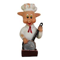 1950s French, Kitchen Wall Pig Matchbox Holder, Earthenware