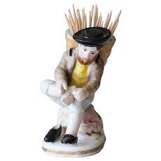 19th Century Antique Portuguese Porcelain Toothpick Holder, Vista Alegre
